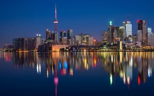 Toronto skyline green buildings